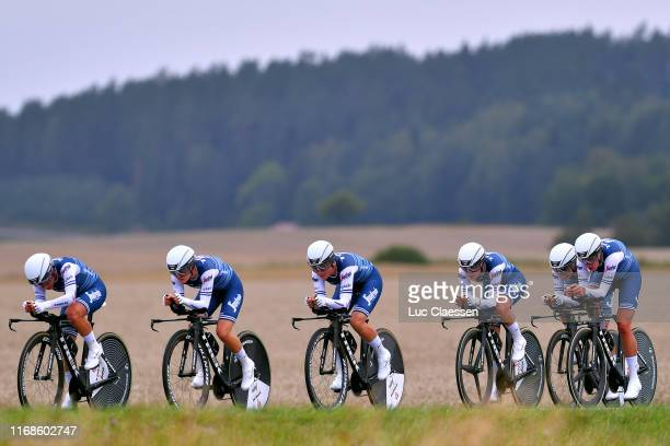 Audrey Cordon-Ragot of France and Team Trek - Segafredo / Elisa Longo Borghini of Italy and Team Trek - Segafredo / Ellen Van Dijk of The Netherlands...