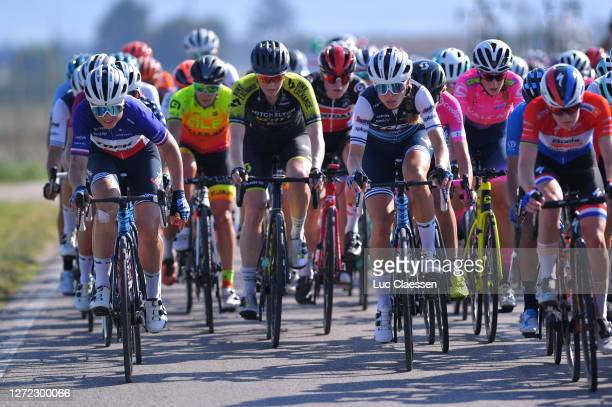 Audrey Cordon-Ragot of France and Team Trek - Segafredo / Tayler Wiles of The United States and Team Trek - Segafredo / Sarah Roy of Australia and...