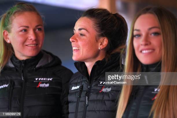 Audrey Cordon-Ragot of France and Team Trek-Segafredo Women / during the 6th Ladies Tour of Norway 2019, Team Presentation / @LTour_Of_Norway / LToN...