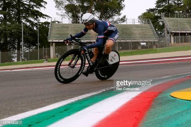 Audrey Cordon-Ragot of France / Autodromo Enzo e Dino Ferrari / during the 93rd UCI Road World Championships 2020, Women Elite Individual Time Trial...