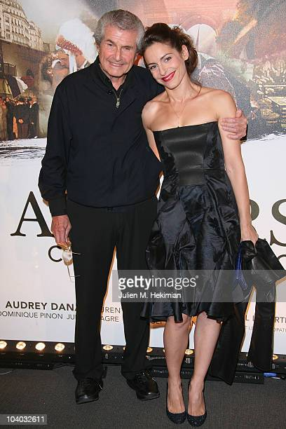 Audrey Dana and Claude Lelouch attend the Paris Premiere of Ces AmoursLa to celebrate 50 years of cinema with Director Claude Lelouch at Cinema UGC...