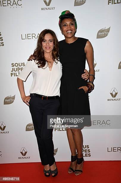 Audrey Dana and Imany attend the Paris Premiere of 'Sous Les Jupes Des Filles' film at Cinema UGC Normandie on June 2 2014 in Paris France