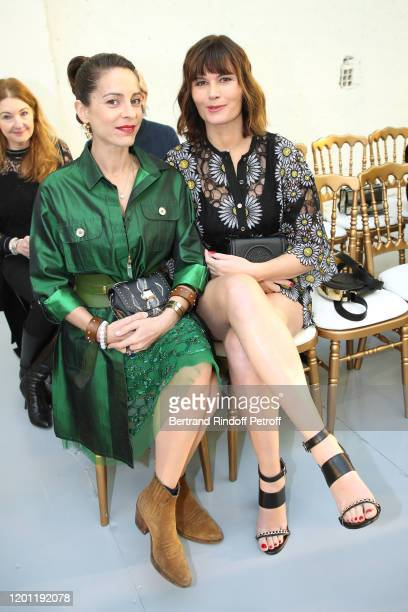 Audrey Dana and Marina Hands attend the Elie Saab Haute Couture Spring/Summer 2020 show as part of Paris Fashion Week on January 22 2020 in Paris...