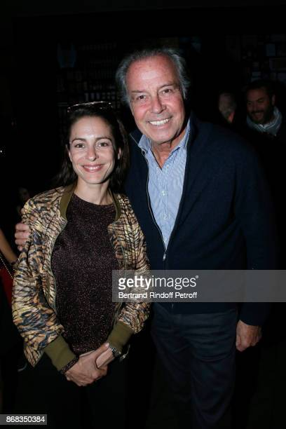 Audrey Dana and Michel Leeb attend Claude Lelouch celebrates his 80th Birthday at Restaurant Victoria on October 30 2017 in Paris France