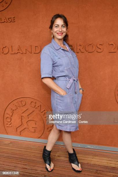 Audrey Dana attends the 2018 French Open Day Ten at Roland Garros on June 5 2018 in Paris France