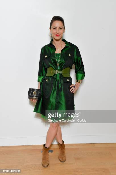 Audrey Dana attends the Elie Saab Haute Couture Spring/Summer 2020 show as part of Paris Fashion Week on January 22 2020 in Paris France