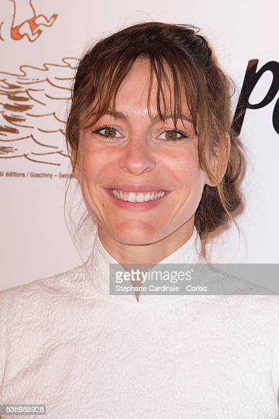 Audrey Dana attends the 'les vacances du petit Nicolas' Premiere at Cinema Gaumont Capucine in Paris