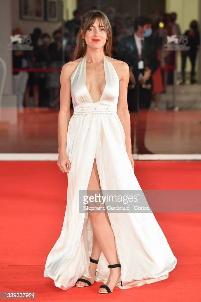 """Audrey Dana attends the red carpet of the movie """"Les Choses Humaines"""" during the 78th Venice International Film Festival on September 09, 2021 in..."""
