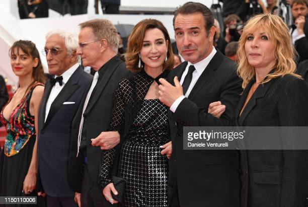 Audrey Dana Gerard Darmon Christophe Lambert Elsa Zilberstein Jean Dujardin and Mathilde Seignier and attend the screening of Les Plus Belles Annees...