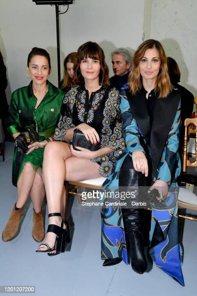 Audrey Dana Marina Hands and Sveva Alviti attend the Elie Saab Haute Couture Spring/Summer 2020 show as part of Paris Fashion Week on January 22 2020...