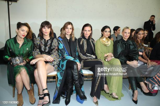 Audrey Dana Marina Hands Sveva Alviti Nieves Alvarez Sonam Kapoor Molly Sims and Joan Smalls attend the Elie Saab Haute Couture Spring/Summer 2020...