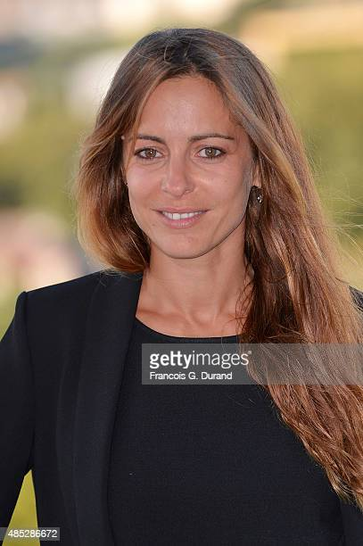 Audrey Dana poses at a photocall for the film 'Boomerang' during the 8th Angouleme FrenchSpeaking Film Festival on August 26 2015 in Angouleme France