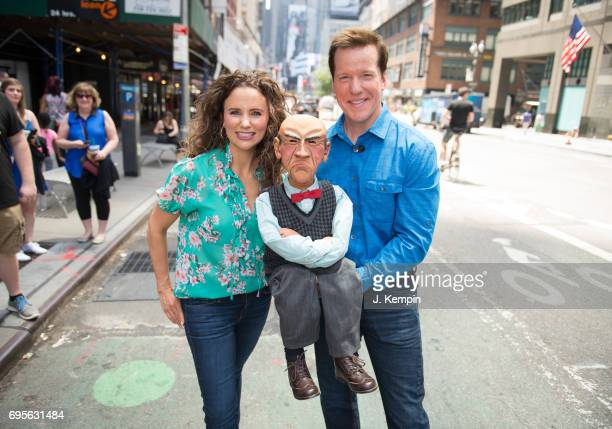Audrey Dunham and Jeff Dunham visit Extra on June 13 2017 in New York City