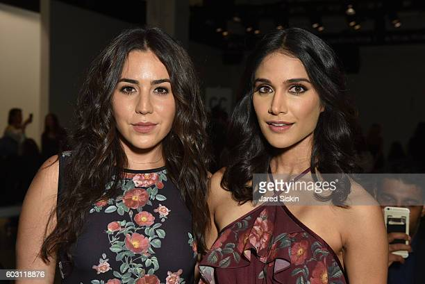 Audrey Esparza and Melanie Chandra attend Erin Fetherston Front Row September 2016 New York Fashion Week The Shows at The Gallery Skylight at...