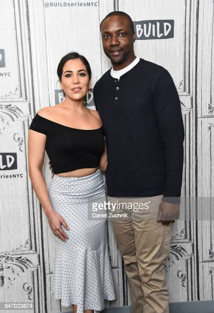 Audrey Esparza and Rob Brown attend the Build Series to discuss the NBC show 'Blindspot' at Build Studio on April 16 2018 in New York City