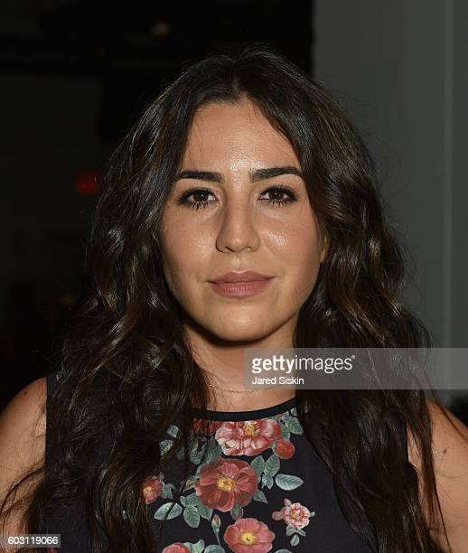 Audrey Esparza attends Erin Fetherston Front Row September 2016 New York Fashion Week The Shows at The Gallery Skylight at Clarkson Sq on September...