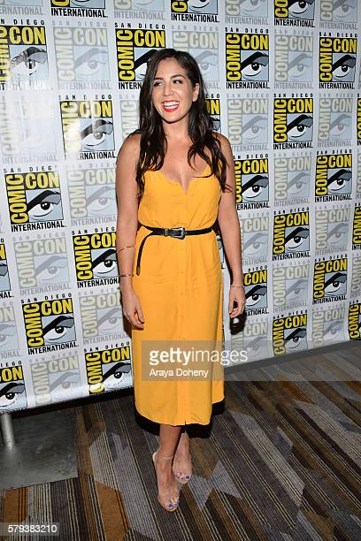 Audrey Esparza attends the Blindspot press line at ComicCon International 2016 Day 3 on July 23 2016 in San Diego California