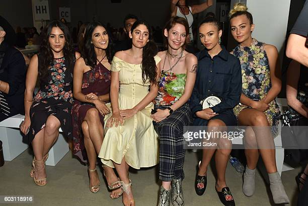 Audrey Esparza Melanie Chandra Arden Wohl Cory Kennedy Isabella Peschardt and Suede Brooks attend Erin Fetherston Front Row September 2016 New York...