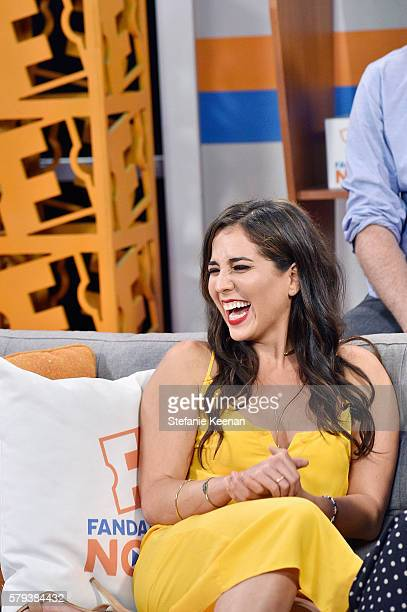 Audrey Esparza of NBC's Blindspot visits the Fandango Studio at San Diego ComicCon International 2016 on July 23 2016 in San Diego California