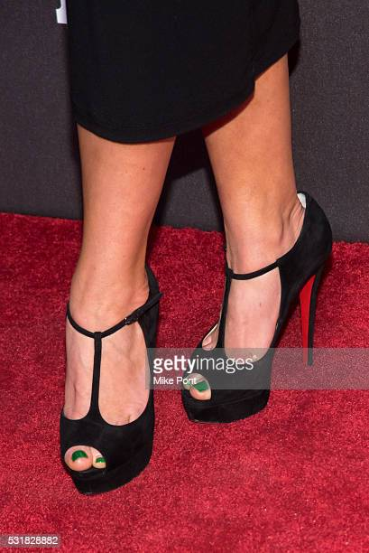 Audrey Esparza shoe detail attends the 2016 Entertainment Weekly People New York Upfront at Cedar Lake on May 16 2016 in New York New York