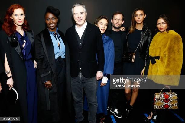 Audrey Fleurot, Aissa Maiga, designer Olivier Lapidus, Alysson Paradis, Nicolas Duvauchelle and girlfriend Anouchka and Olivia Culpo attend the...