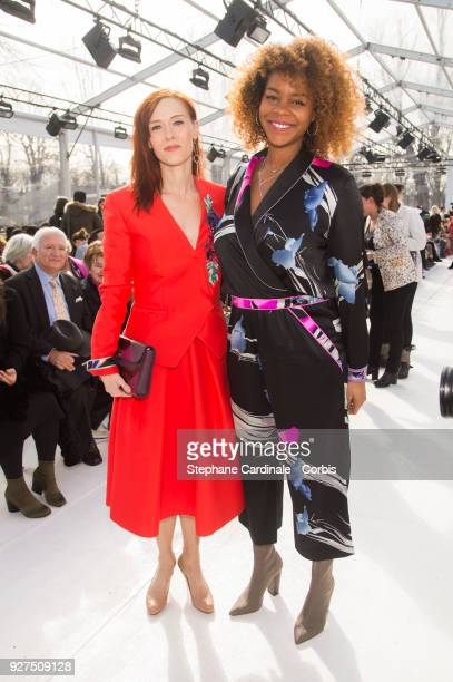 Audrey Fleurot and Luthna Plocus attend the Leonard show as part of the Paris Fashion Week Womenswear Fall/Winter 2018/2019 on March 5, 2018 in...