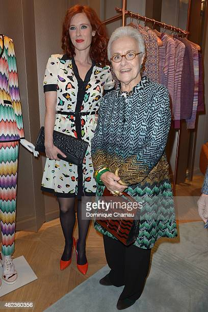 Audrey Fleurot and Rosita Missoni attend the Mussoni opening store at 219 Rue Saint Honore during the Paris Fashion Week Haute Couture Spring/Summer...
