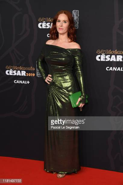 Audrey Fleurot arrives at the Cesar Film Awards 2019 at Salle Pleyel on February 22, 2019 in Paris, France.
