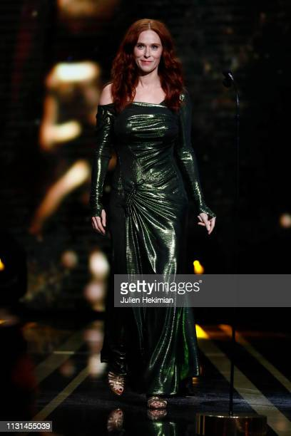 Audrey Fleurot arrives on stage during the Cesar Film Awards 2019 at Salle Pleyel on February 22, 2019 in Paris, France.