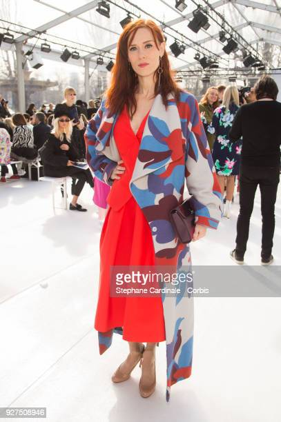 Audrey Fleurot attends the Leonard show as part of the Paris Fashion Week Womenswear Fall/Winter 2018/2019 on March 5, 2018 in Paris, France.