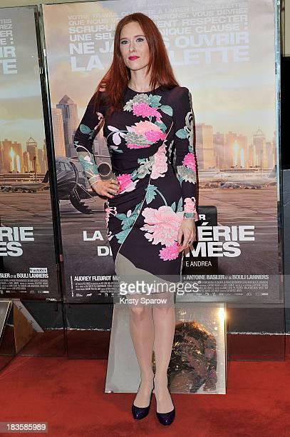 Audrey Fleurot atttends the 'La Confrerie Des Larmes' Paris Premiere at the UGC Cine Cite des Halles on October 7 2013 in Paris France