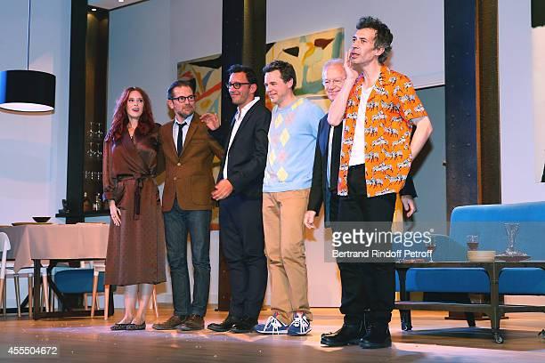 Audrey Fleurot, Autors of the piece Matthieu Delaporte and Alexandre de la Patelliere, Guillaume de Tonquedec, Stage Director Bernard Murat and Eric...