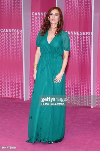 """Audrey Fleurot from the serie """"Safe"""" attends the Closing Ceremony and """"Safe"""" screening during the 1st Cannes International Series Festival at Palais..."""
