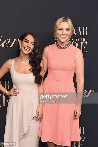 Audrey Gelman and Laura Brown attend a dinner celebrating Women Who Dare hosted by Panthere De Cartier and Harper's Bazaar at Skylight Clarkson Sq on...