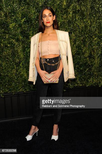 Audrey Gelman attends the 2017 Tribeca Film Festival Chanel Artists Dinner on April 24 2017 in New York City