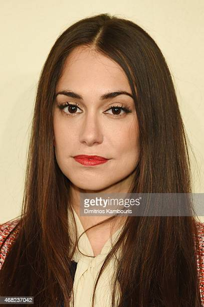 Audrey Gelman attends the CHANEL ParisSalzburg 2014/15 Metiers d'Art Collection at Park Avenue Armory on March 31 2015 in New York City