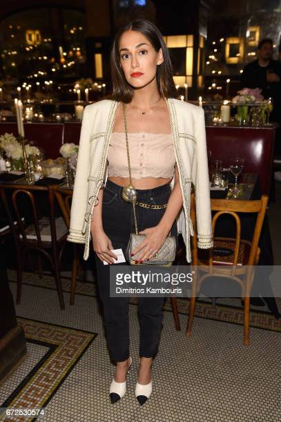 Audrey Gelman attends the CHANEL Tribeca Film Festival Artists Dinner at Balthazar on April 24 2017 in New York City