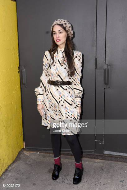 Audrey Gelman attends the Marc Jacobs Fall 2017 Show at Park Avenue Armory on February 16 2017 in New York City