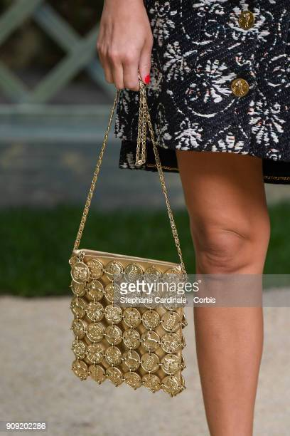 Audrey Gelman bag detail attends the Chanel Haute Couture Spring Summer 2018 show as part of Paris Fashion Week January 23 2018 in Paris France