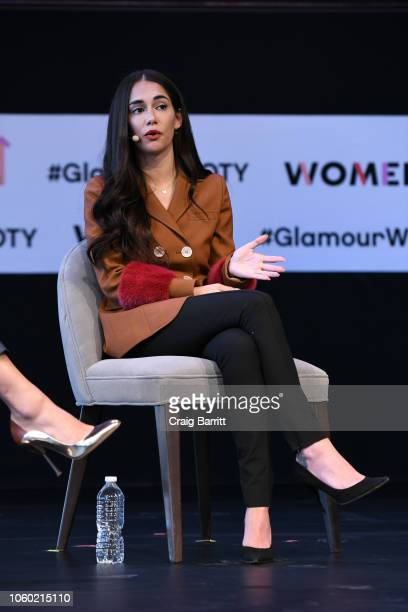 Audrey Gelman speaks onstage during Turn A Big Idea Into A Bigger Business panel discussion 2018 Glamour Women Of The Year Summit Women Rise at...