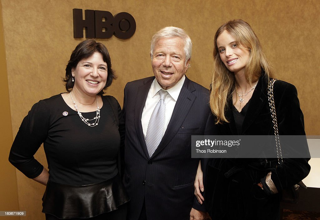 Audrey Gordon, director of the Progeria Foundation, Robert Kraft, owner of the New England Patriots, and Ricki Lander attend The New York Premiere Of HBO's 'Life According To Sam' at HBO Theater on October 8, 2013 in New York City.