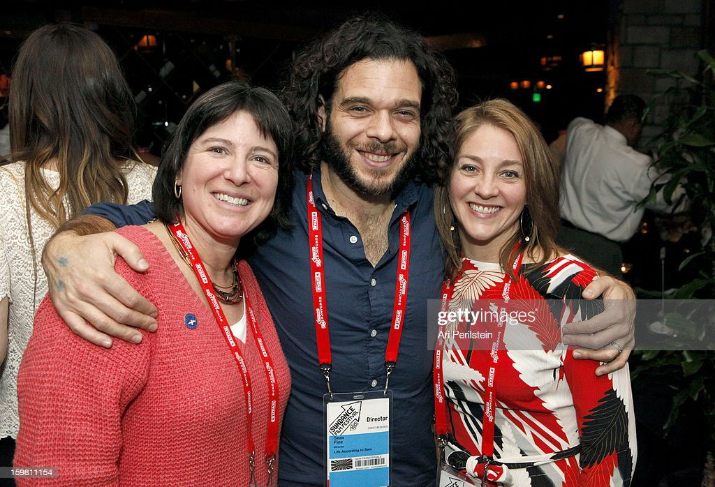 Audrey Gordon, Sean Fine and Andrea Nix Fine attends the HBO Documentary Films Sundance Party on January 20, 2013 in Park City, Utah.