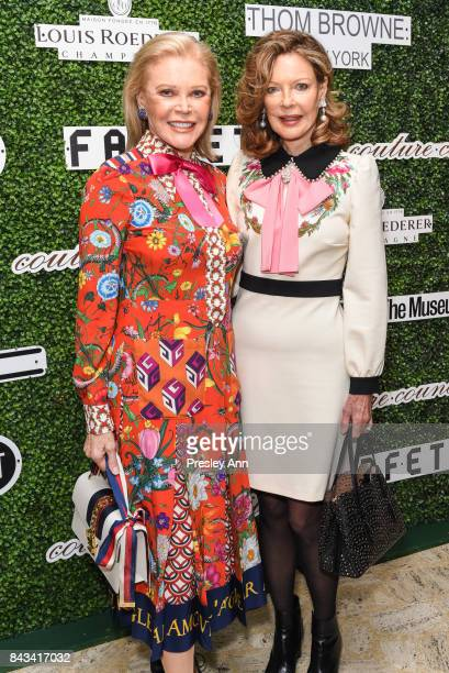 Audrey Gruss and Margo Langenberg attend 2017 Couture Council Award Luncheon at David H Koch Theater Lincoln Center on September 6 2017 in New York...