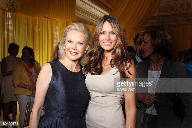 Audrey Gruss and Melania Trump pose at the Hope for Depression Research Foundation Luncheon at Mar A Lago on March 28, 2008 in Palm Beach, Florida.