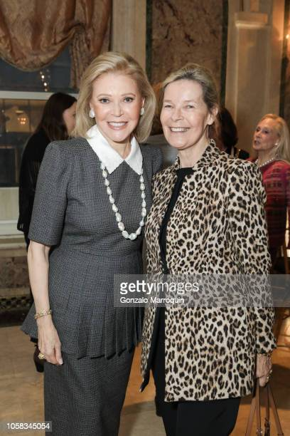 Audrey Gruss and Mona Arnold during the Hope for Depression Research Foundation 12th Annual Hope Luncheon Seminar at The Plaza Hotel on November 6...