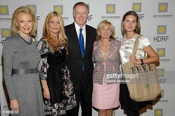 Audrey Gruss Linda Hamilton Chuck Scarborough Sharon Bush and Lauren Bush attend Hope For Depression Research Foundation Luncheon at Plaza Hotel on...