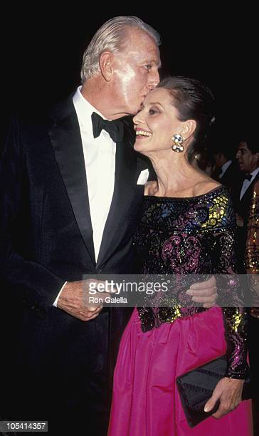 Audrey Hepburn and Givenchy during 8th Annual Night of Stars Fashion Festival at The Waldorf Astoria Hotel in New York City New York United States