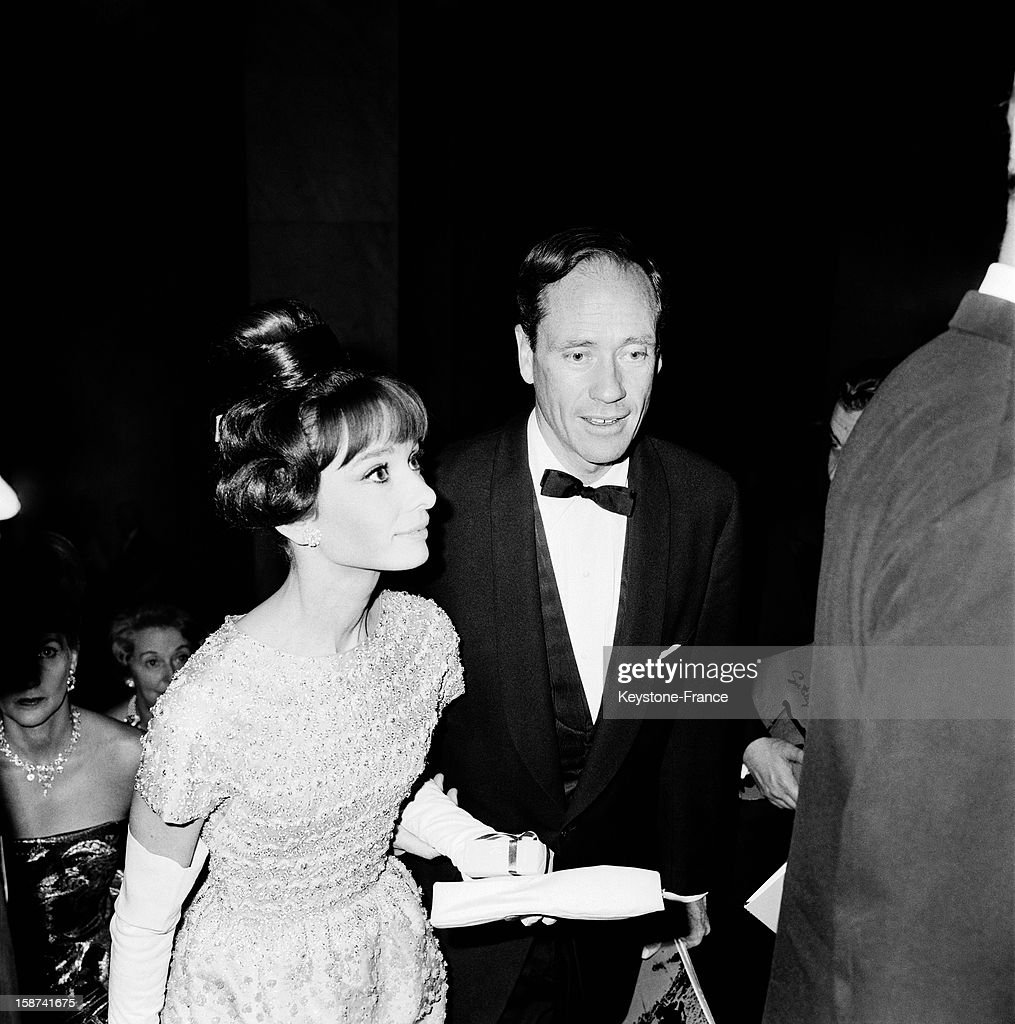 Audrey Hepburn and Mel Ferrer at the Gala for the movie 'The Longest Day' directed by Darryl F. Zanuck at Palais De Chaillot on October 26, 1962 in Paris, France.