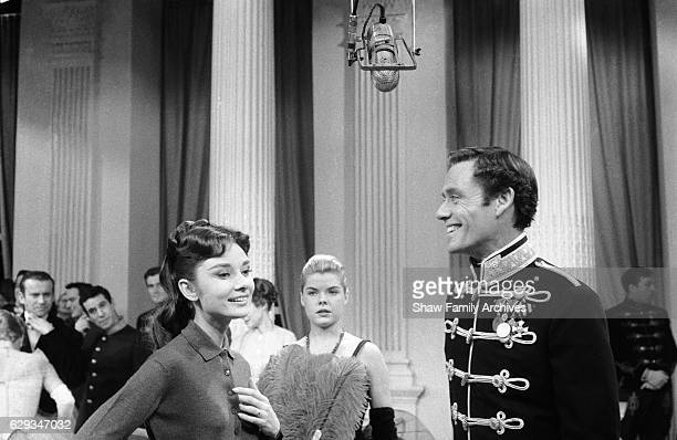 Audrey Hepburn and Mel Ferrer in 1957 during the filming of 'Mayerling' in New York New York