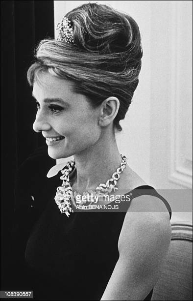 Audrey Hepburn and Schlumberger jewels in Paris France on October 18 1995